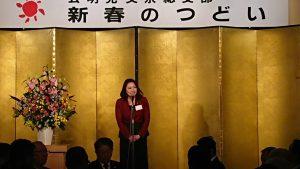 挨拶する竹谷とし子参議院議員