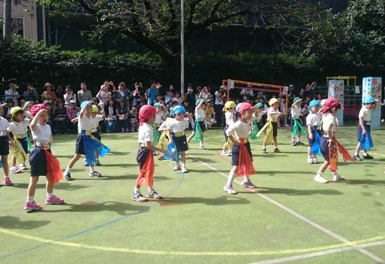 湯島幼稚園の運動会風景